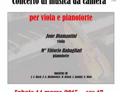 14.03.2015 Concerto Musica da Camera – Viola & Pianoforte