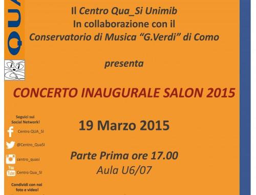 19.03.2015 Concerto Inaugurale Salon 2015 Brera-Bicocca