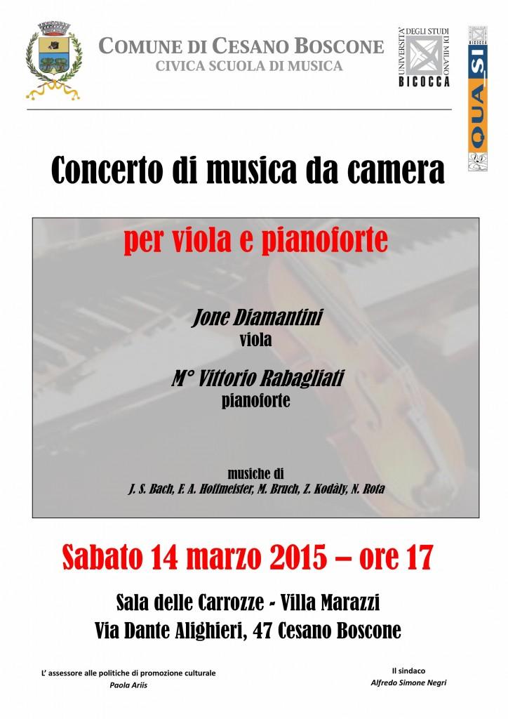 Locandina Musica da Camera - Cesano Boscone