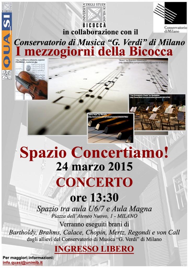 Locandina Spazio Concertiamo 24 marzo