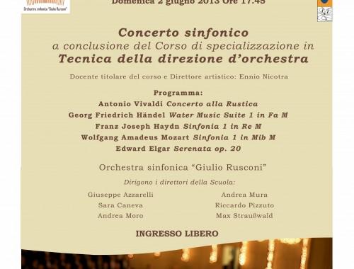 02.06.2013 Concerto Sinfonico