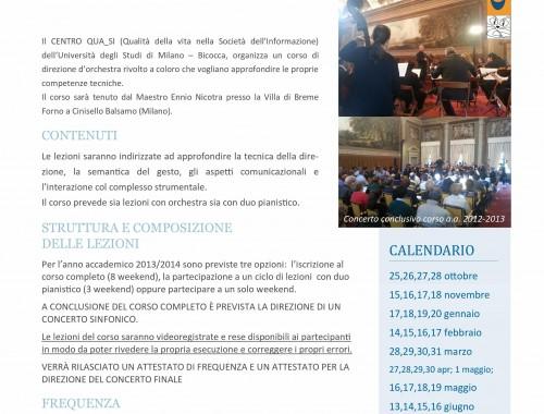 11.10.2013 Corso in Tecnica della direzione d'orchestra (3° ed.)
