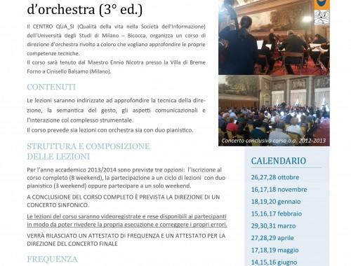 11.10.2013 Corso di specializzazione in Tecnica della direzione d'orchestra