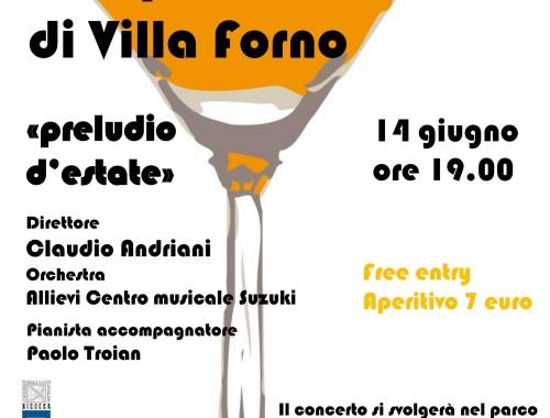 """14.06.2014 Gli aperitivi musicali di Villa Forno """"Preludio d'Estate"""""""