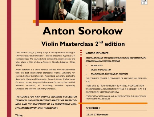 30.10.2013 Anton Sorocow Violin Masterclas 2nd Edition