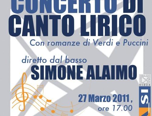 27.03.2011 Concerto di Canto Lirico Simone Alaimo
