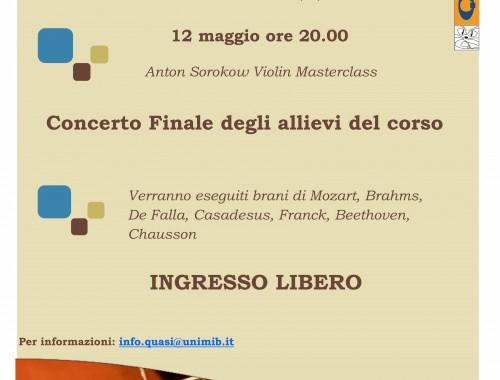 12.05.2014 Concerto Finale Allievi Masterclass Sorocow