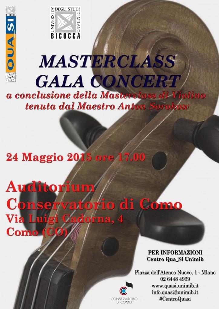 Locandina Masterclass Gala Concert COMO