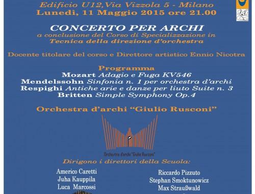 10/11 Maggio 2015 CONCERTO PER ARCHI