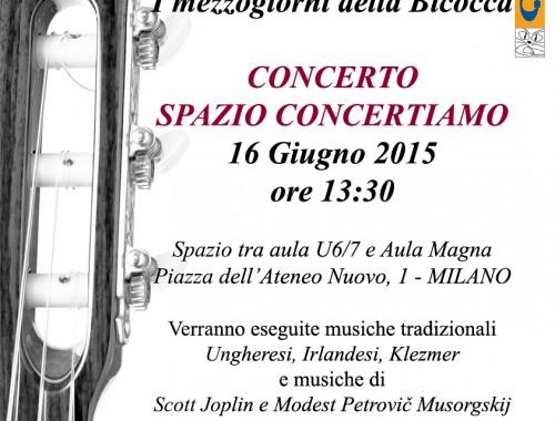 16.06.2015 Ensembles di Chitarre UNIMIB