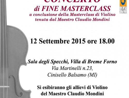 12.09.2015 Concerto di Fine Masterclass