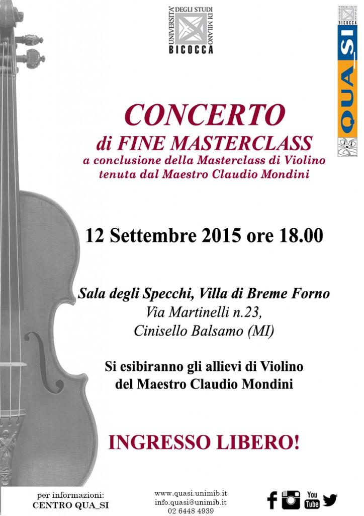 Locandina Concerto fine masterclass Mondini