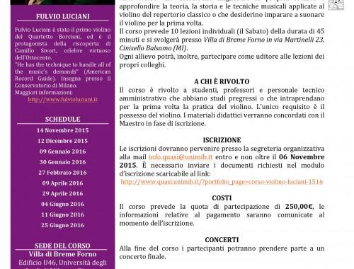Corso Violino Luciani 15/16