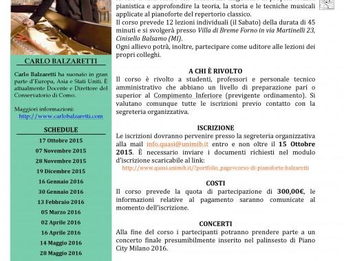 Corso di Pianoforte Balzaretti 15-16