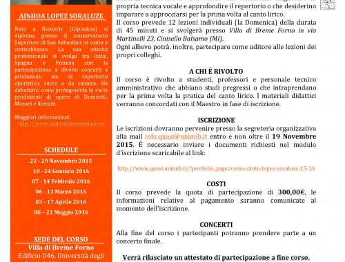 Corso Canto Lopez Soraluze 15-16