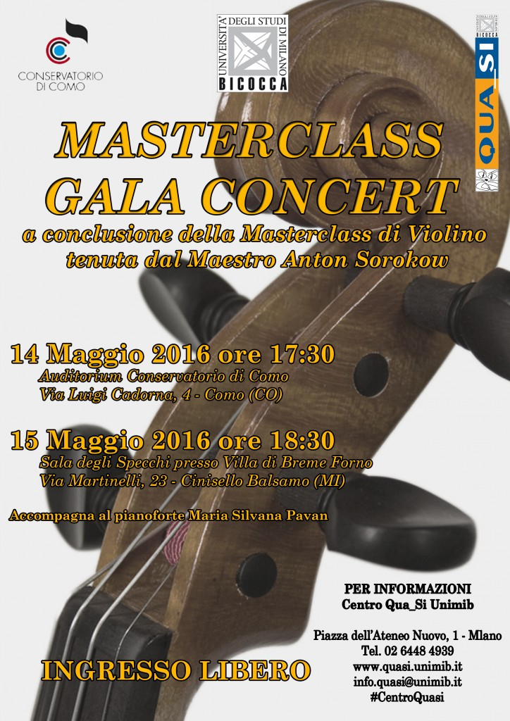 Locandina Masterclass Gala Concert 14-15 Maggio 2016
